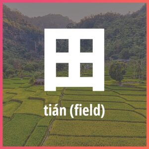 Chinese character: field