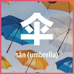 Chinese character: umbrella