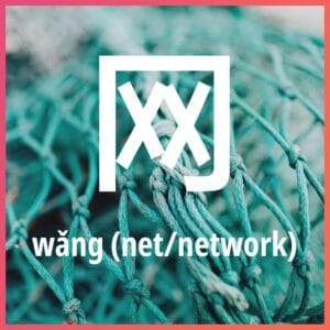 Chinese character: net/network