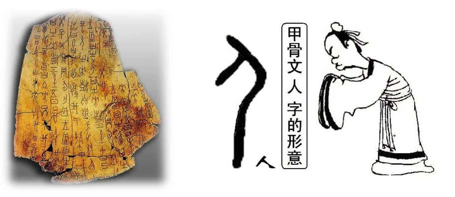 Oracle bones Chinese characters